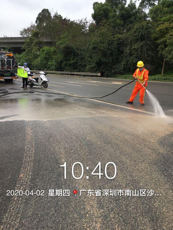 人工冲洗路面-玉龙环保