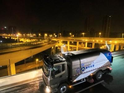 全球首个自动驾驶清扫车正式亮相上海中环