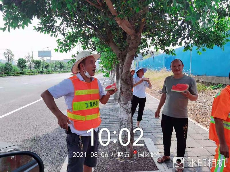 玉龙环保重庆分公司给员工送清凉发放慰问物资4
