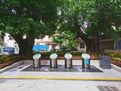 除臭、消毒,深圳首个地埋式垃圾桶在罗湖启用